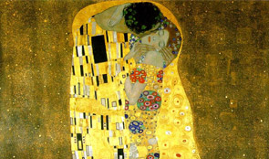 "Klimt, ""The kiss"" 1907/8 Museo Belvedere Vienna"
